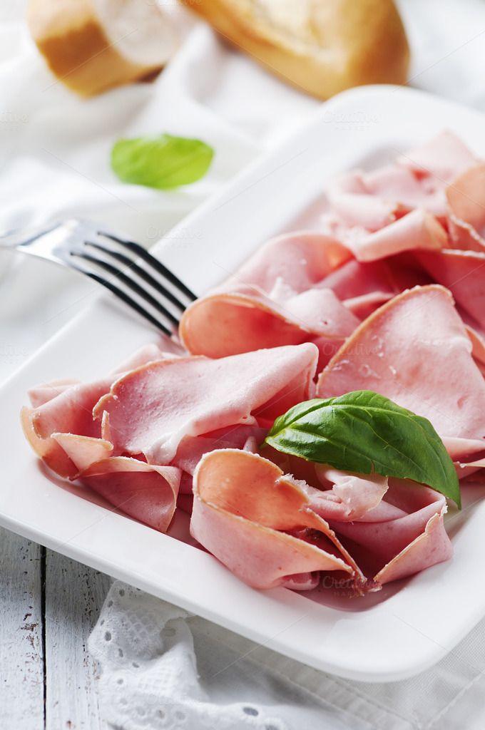 Italian antipasto with mortadella by oxana.denezhkina on @creativemarket