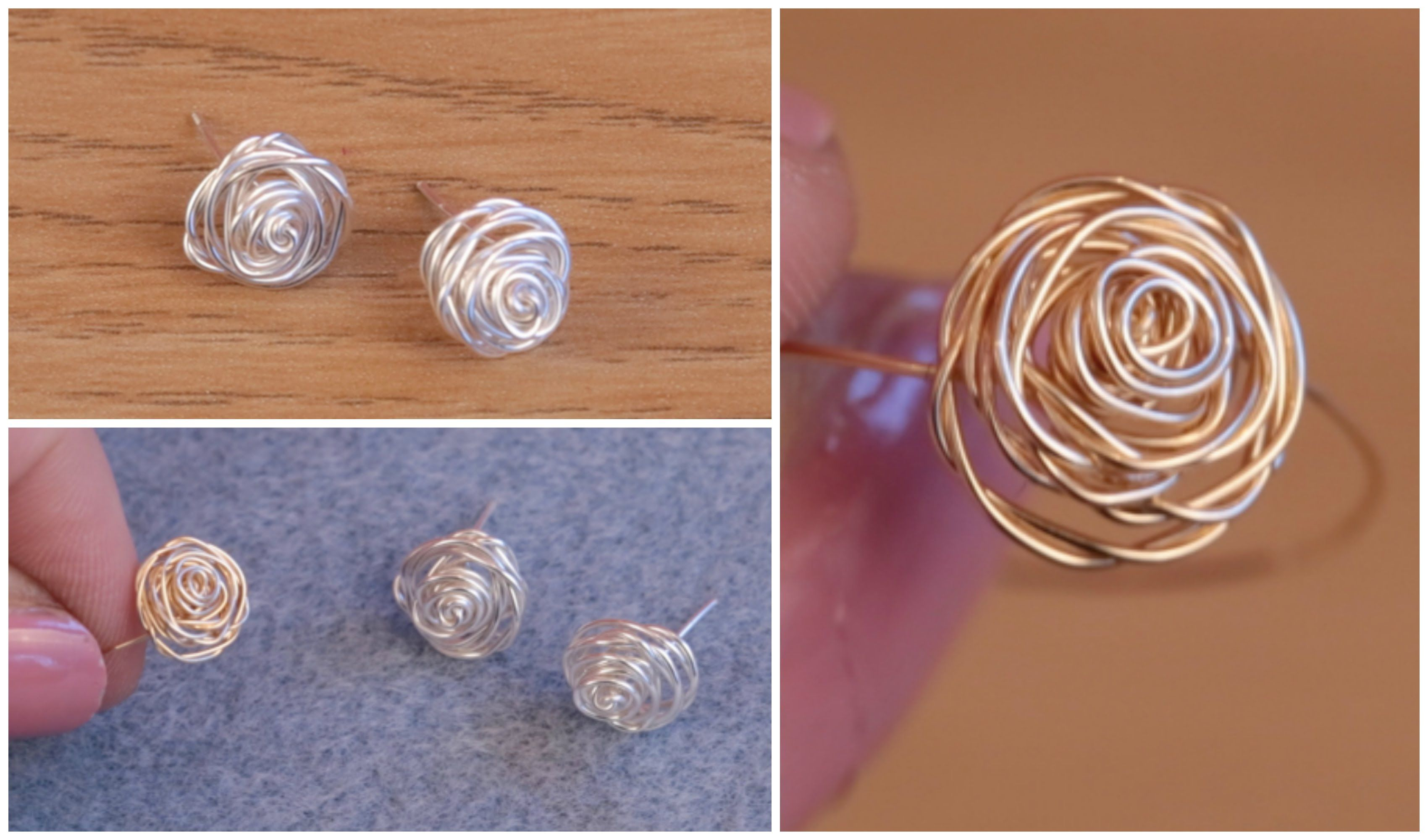 Diy Make Silver Stud Earrings Rose Jewellery With Jessica