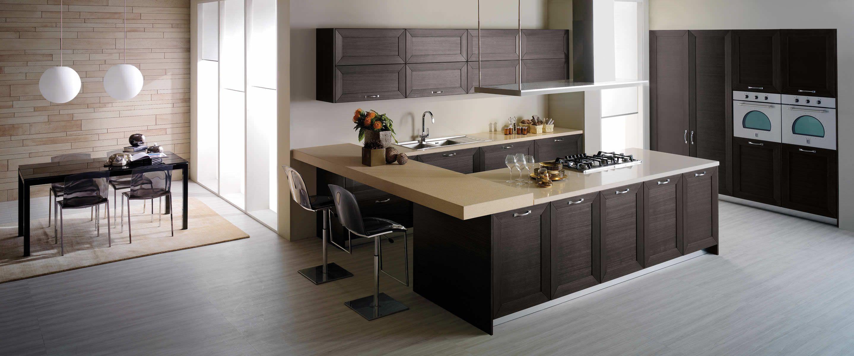 Cocina moderna con isla cocinas pinterest cocina for Cocinas cuadradas modernas