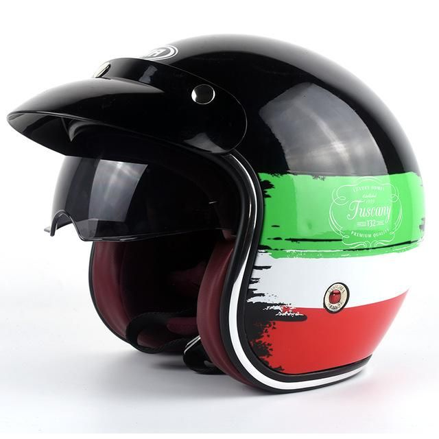 New Arrival YEMA Cross-country motorcycle helmet women and men Personality fashion electric Harley summer Half safety helmet