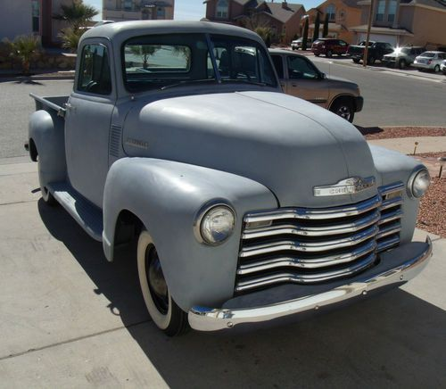 Sell New 53 Chevy Pick Up 5 Window Curved Window Primered No