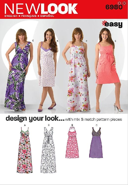 tank top maxi dress patterns | Waistline, is pretty dress, tank ...