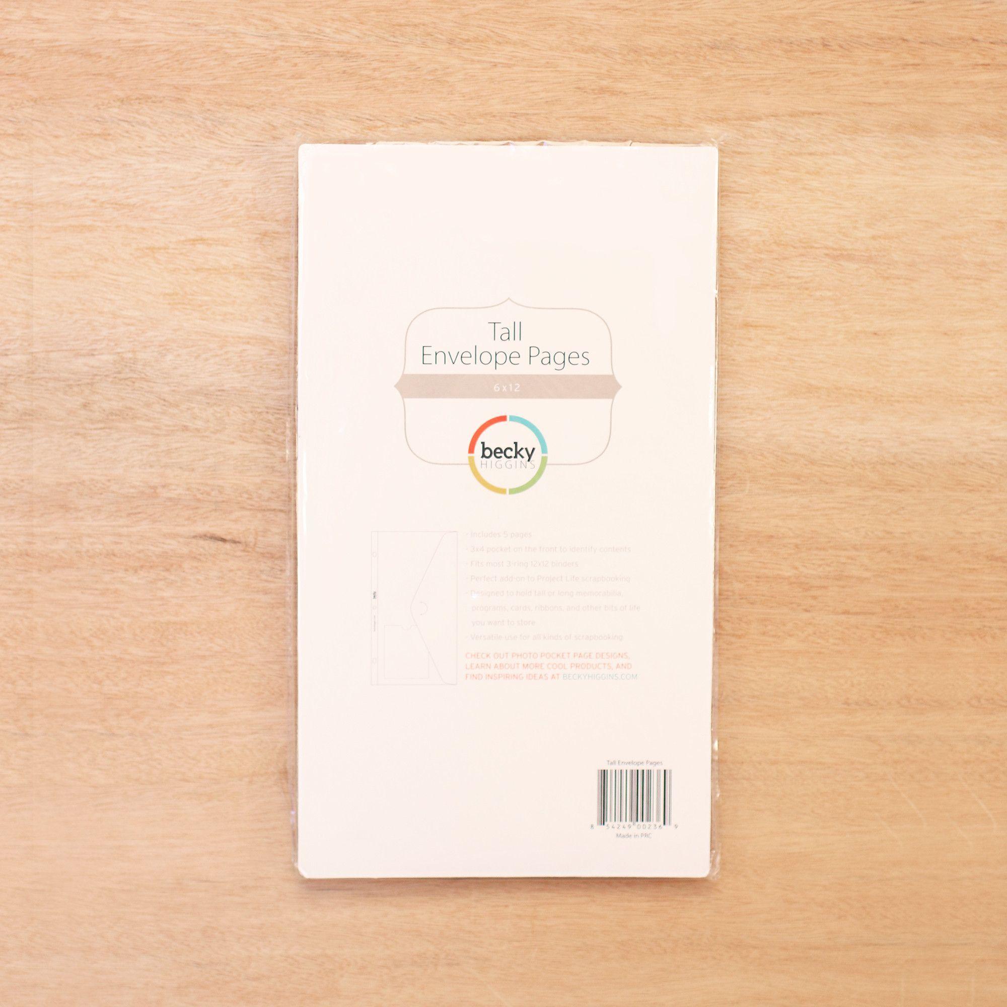 6x12 Envelope Pages Pocket scrapbooking, Envelope