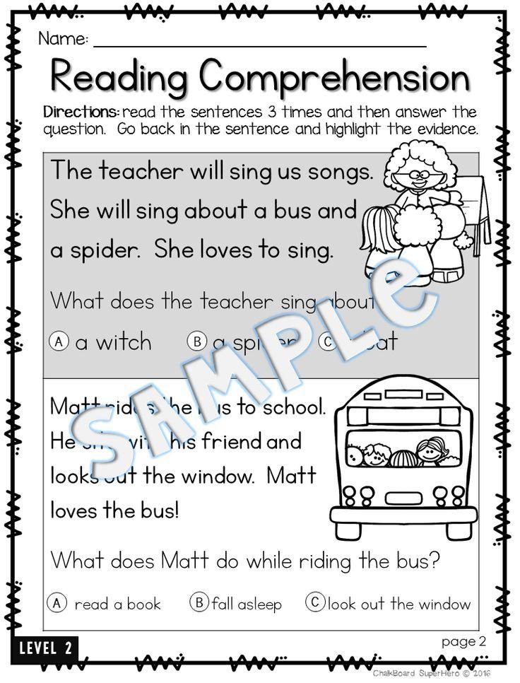 Reading Comprehension: {4 different levels} | Kind