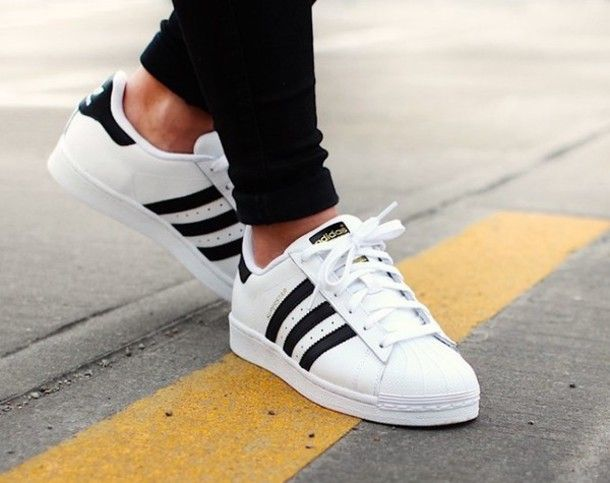 Adidas superstar are one of the biggest styles right now they go with about  anything.