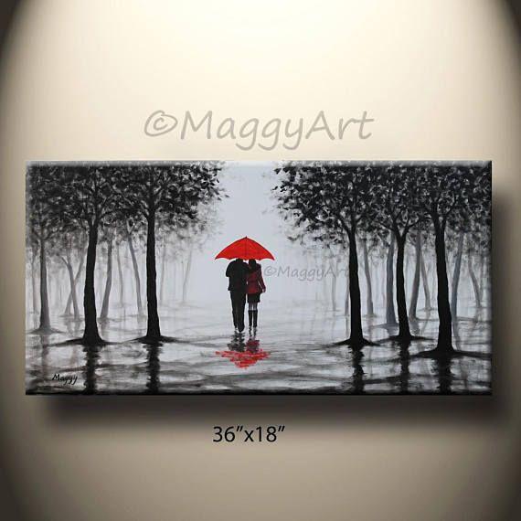 Cette peinture acrylique a été peinte sur 18 x 36 » à la main et 15