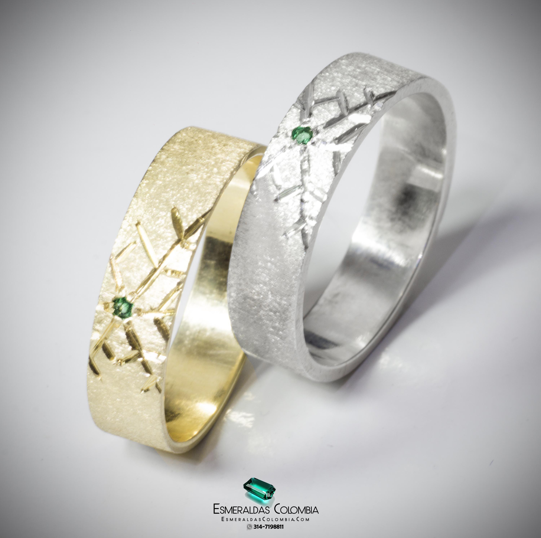 c0fdbb28e384 Argollas De Matrimonio En Plata U Oro 18k Diamante Swaroski   esmeraldascolombia Facebook   esmeraldascolombia