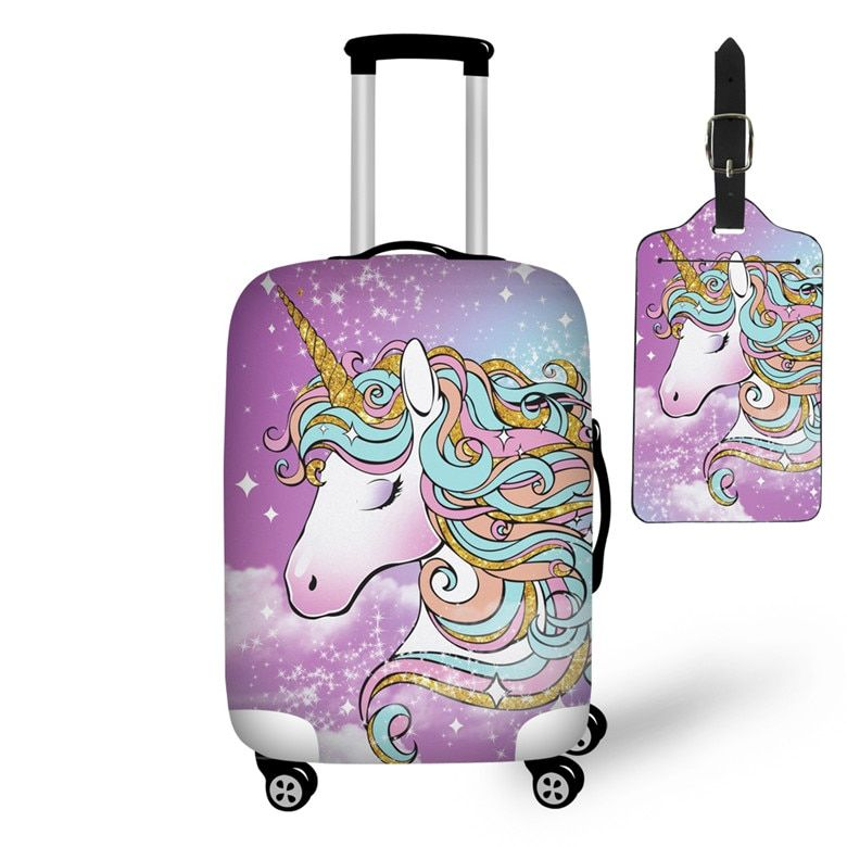 Unicorn Travel on Road Luggage Protective Cover And Tag - Unicorn bag, Unicorns and mermaids, Unicorn party, Unicorn room decor, Unicorn, Luggage - XL Sizes Available To Fit Almost Any Luggage, Which Can Be FoldIn Very Small, Easy To Store And Carry  	Protect your suitcase against dirt and scratch; make your suitcase instantly recognizable
