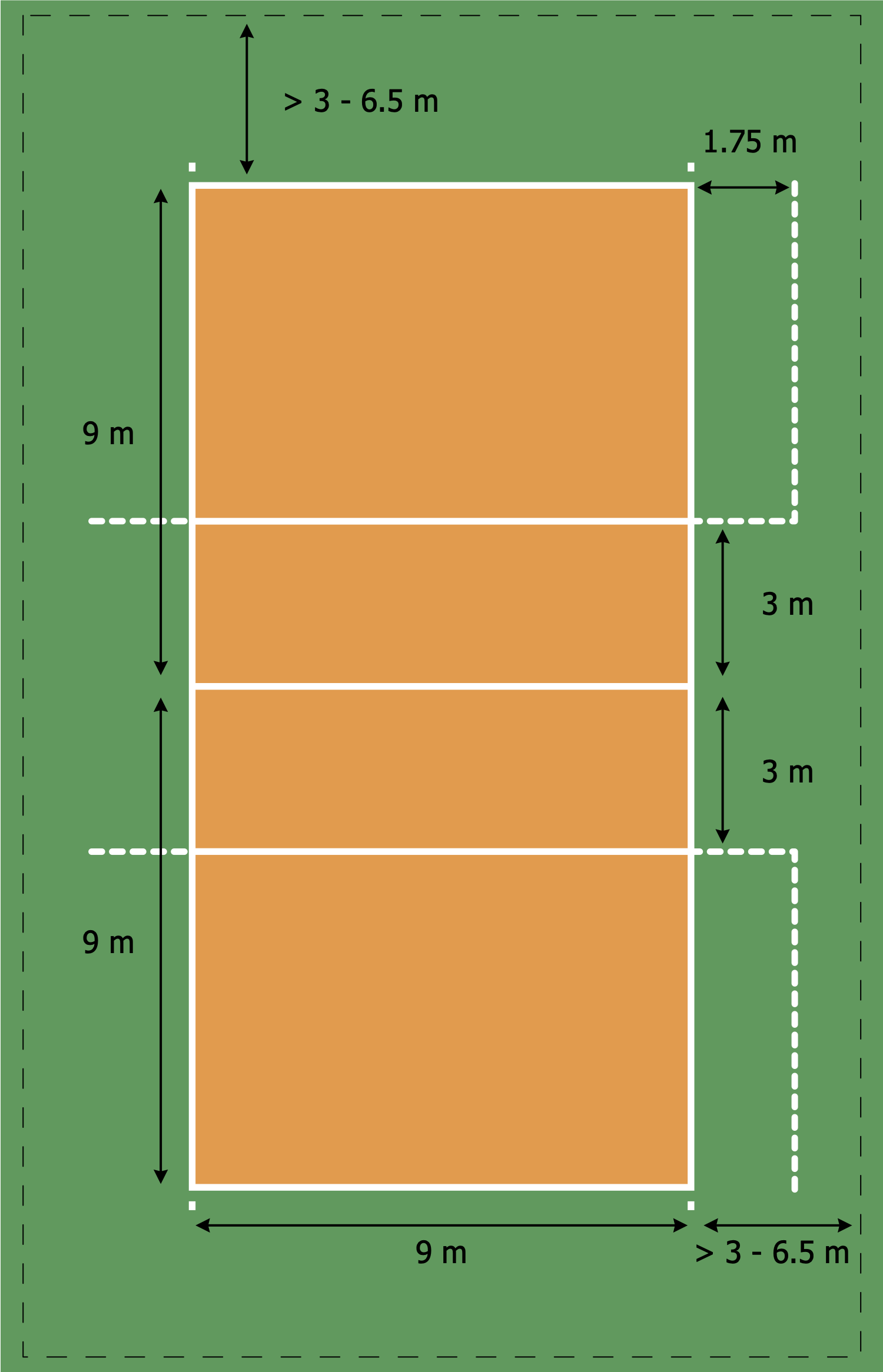 Volleyball Court Template In 2020 Volleyball Court Size Volleyball Court Backyard Beach Volleyball Court Dimensions
