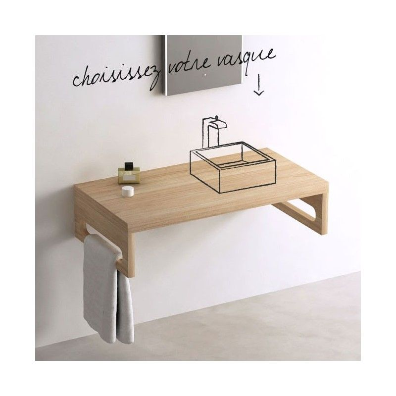 plan vasque salle de bain frne 100 cm woody - 100 Cm Plan Vasque