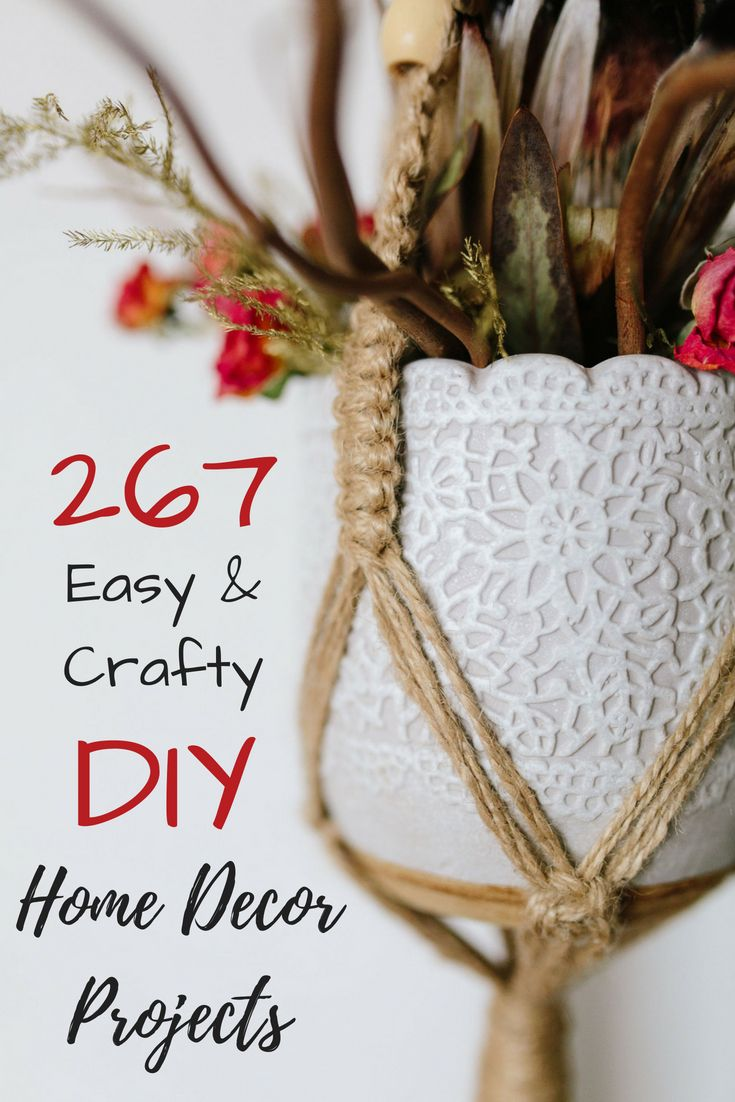 17 Easy DIY Home Decor Craft Projects That Don\'t Look Cheap | Easy ...
