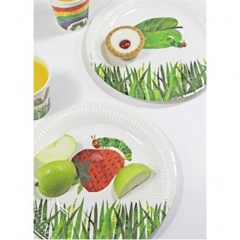 The Very Hungry Caterpillar Plates-The Very Hungry Caterpillar Party Supplies-The Party Company
