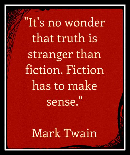 Items similar to Fridge Magnet Mark Twain quote Truth is stranger than fiction red background on Etsy