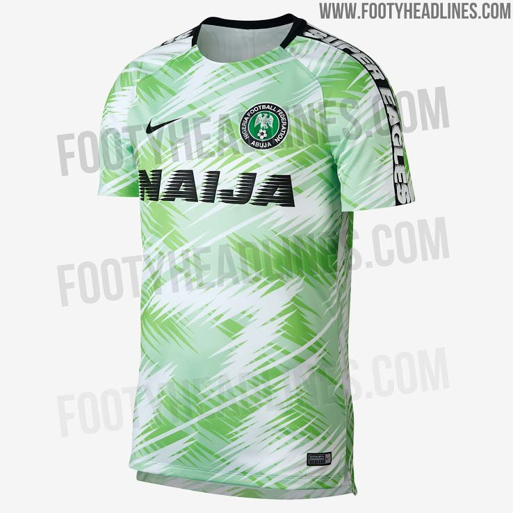 Spectacular Nike Nigeria 2018 World Cup Pre Match Shirt Football Tops World Cup Jerseys Jersey