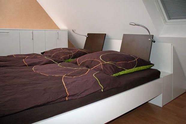 Bildergebnis für bett kopfteil schräge Schlafzimmer bett