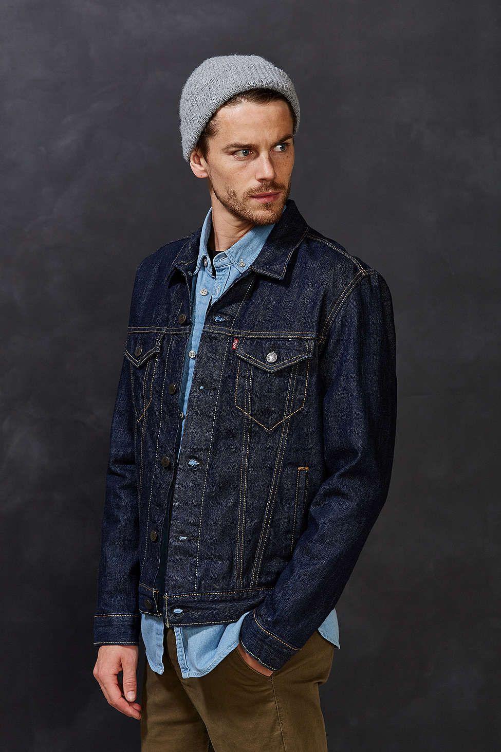 Urbnite Jean Jacket Outfits Men Dark Blue Denim Jacket Jean Jacket Outfits [ 1463 x 975 Pixel ]