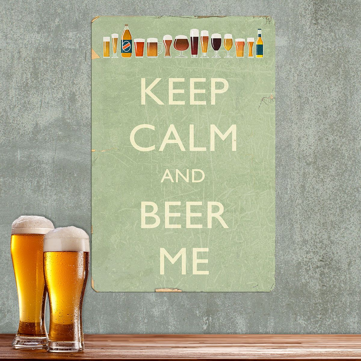 Keep calm and beer me funny wall decal funny wall decal