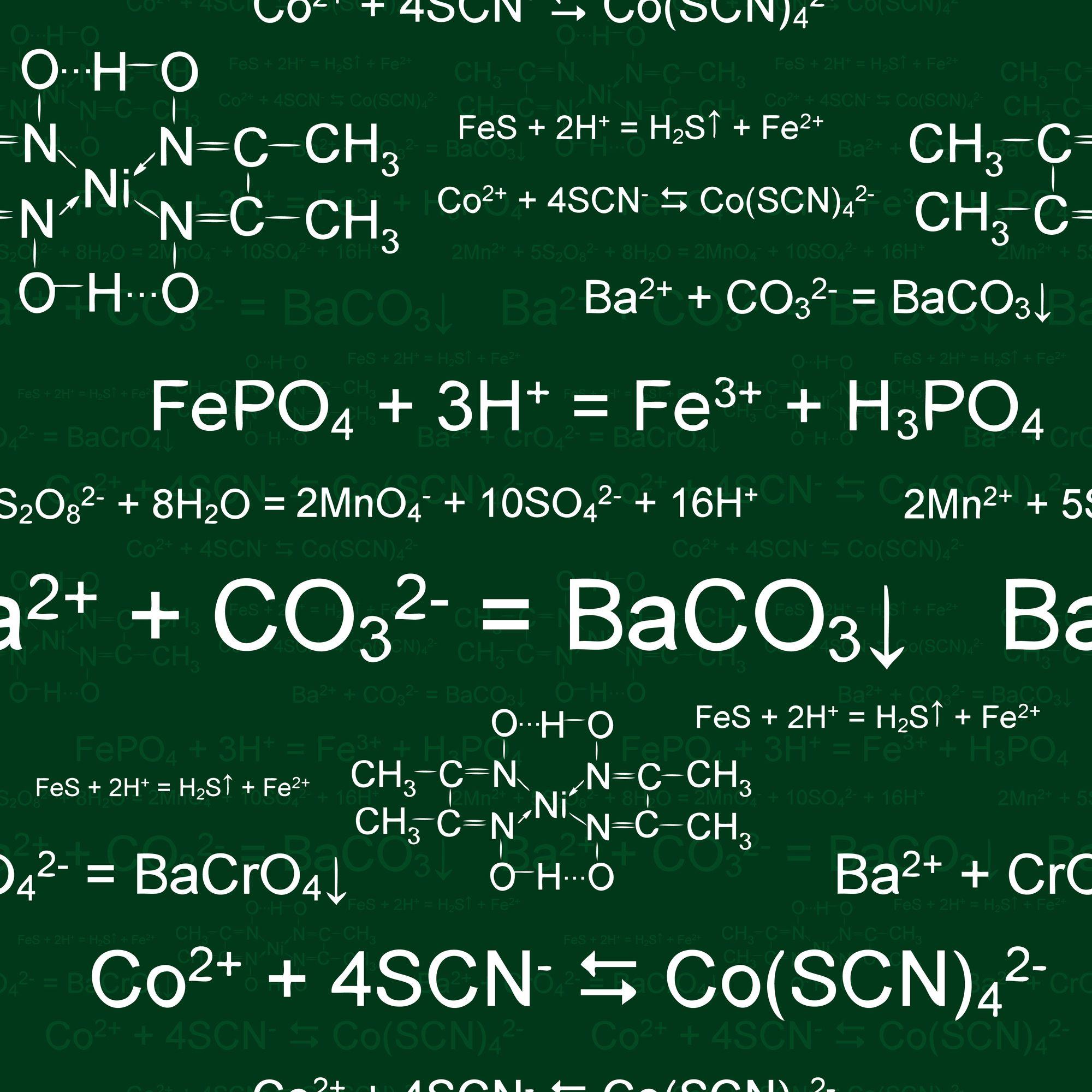 Seamlessly Wallpaper Chemistry Scribbles On Green