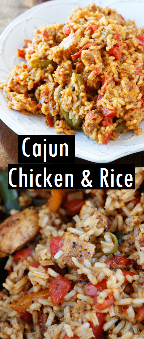 Cajun Chicken & Rice Recipe #cajundishes
