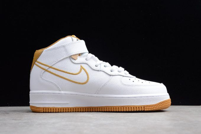 Nike Air Force 1 Mid /'07 LTHR Shoes White Muted Bronze AQ8650-101 Men/'s NEW
