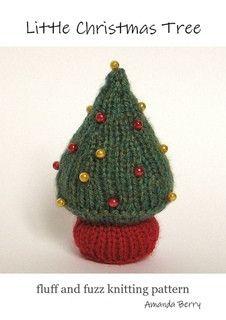 gebreid kerstboompje