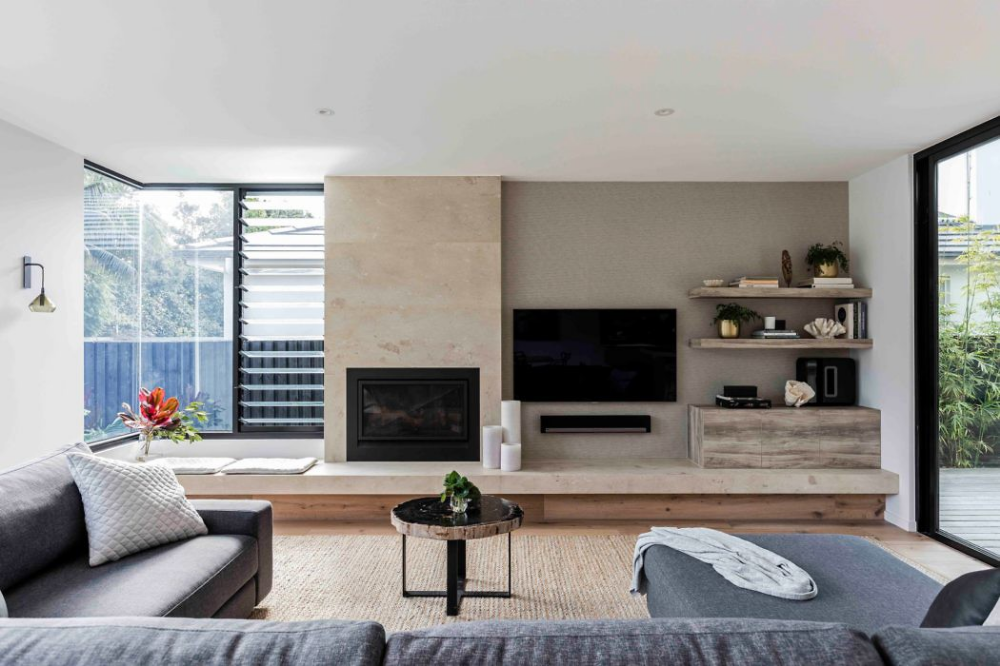 Rose Bay House by Prebuilt HomeAdore Living room with
