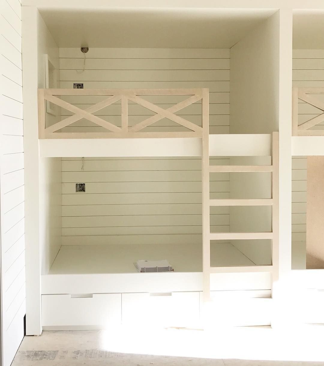 Corner loft bed ideas  Pin by Jaime West on Our New Home  Pinterest  Bunk rooms Built in