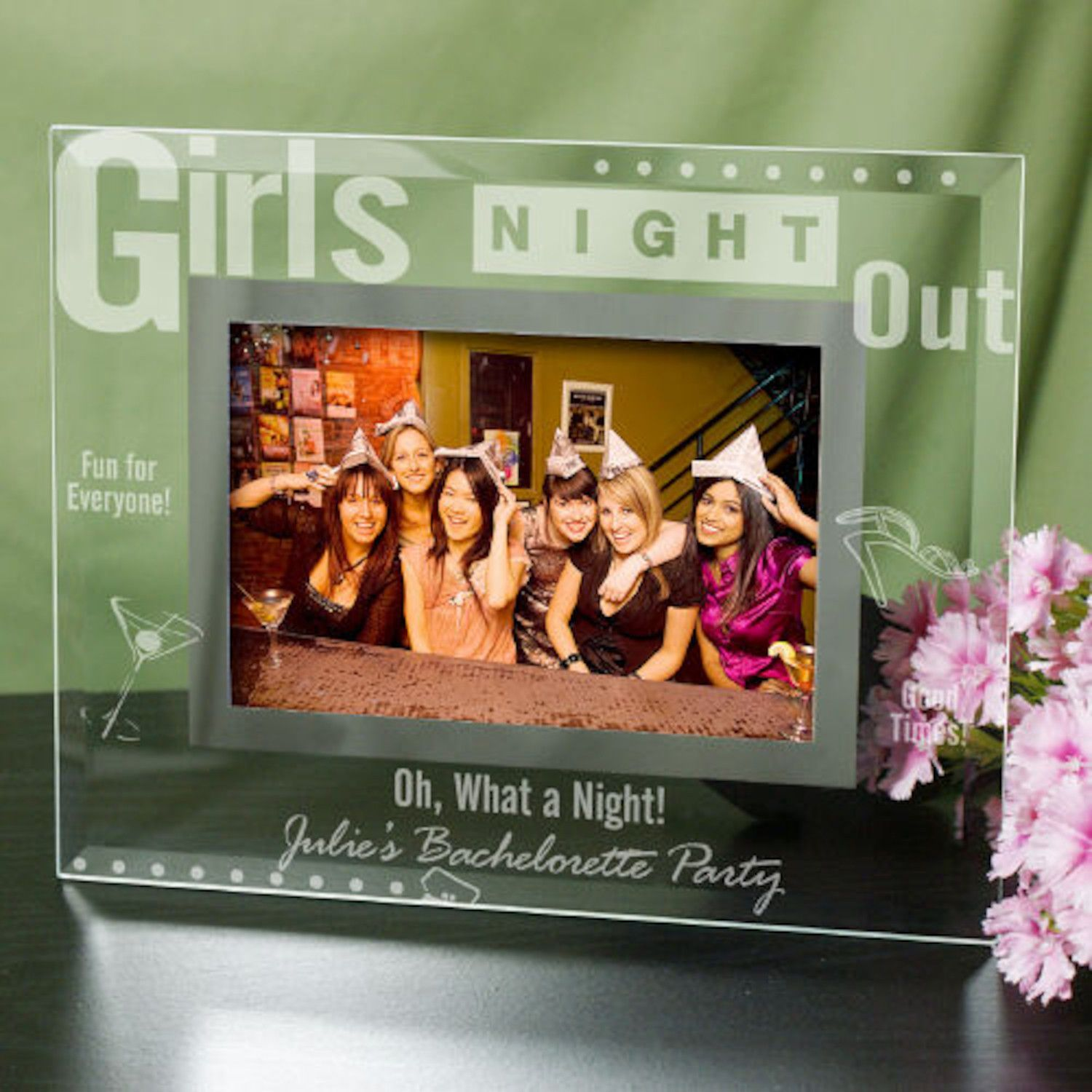 Personalized Engraved Girls Night Out Glass Picture Frame | arts and ...