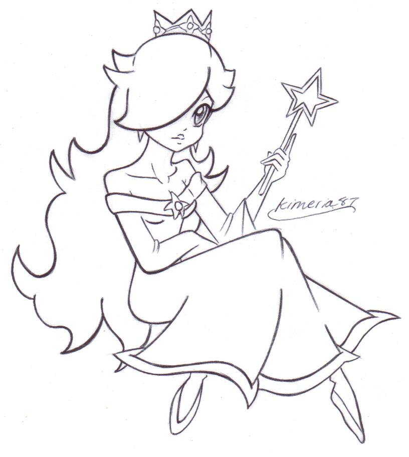 Lovely Rosalina- FREE LINES by Kimeria87.deviantart.com on