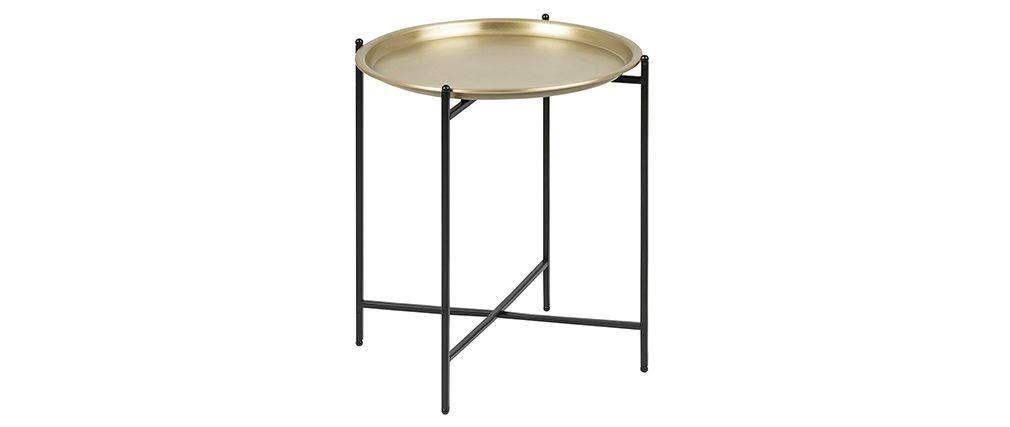 Table D Appoint Design Ronde Metal Dore Luz Miliboo Table D Appoint Design Table D Appoint Miliboo