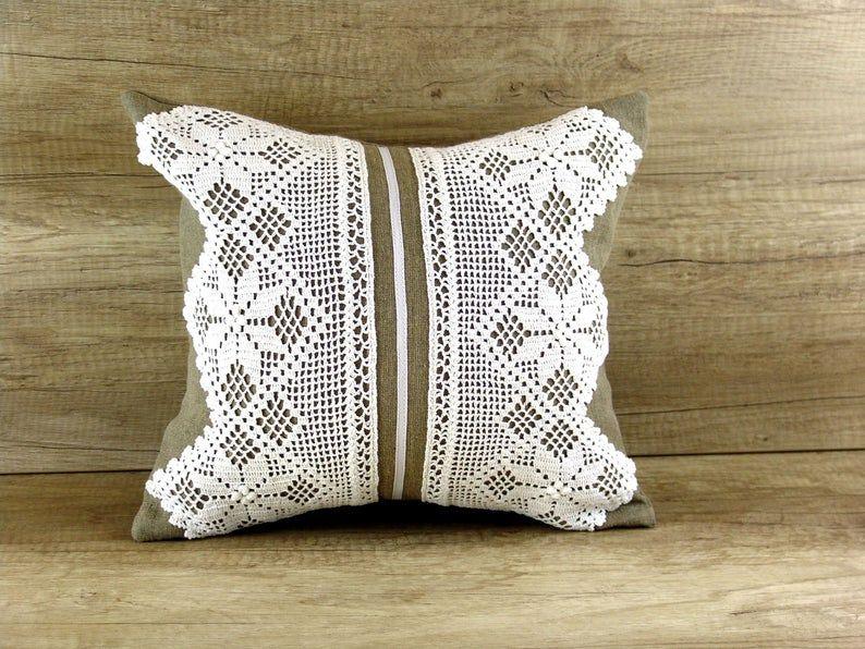 lace decorative pillow cover