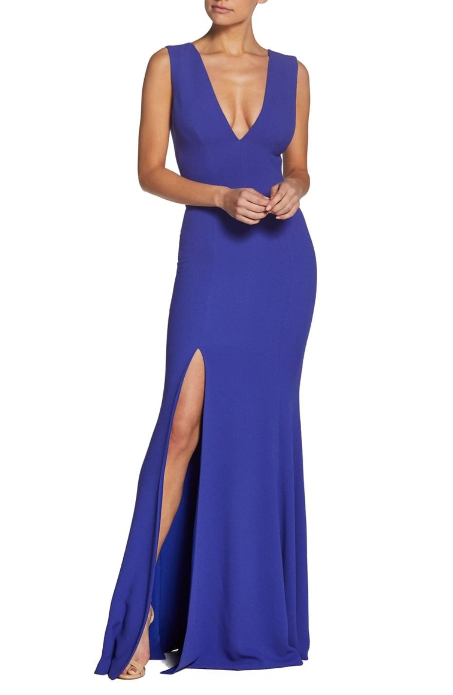 Ririus cobalt blue bridesmaid dress is goals for the girls