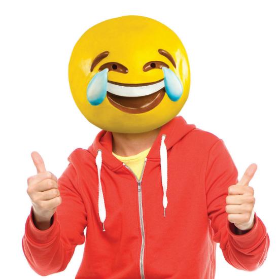 Tears of Joy Emoji Mask in 2019   String Lights   Emoji halloween