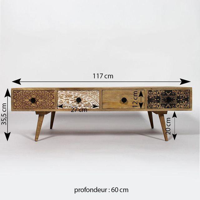 Table Basse Bois Massif Au Design Scandinave Bt278 Made In Meubles