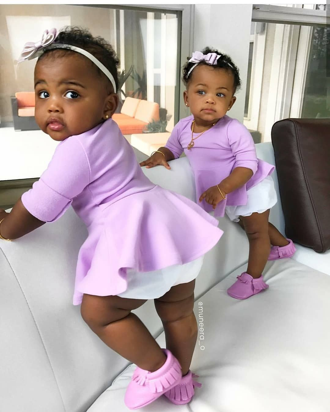 Black Twins Infant Girls