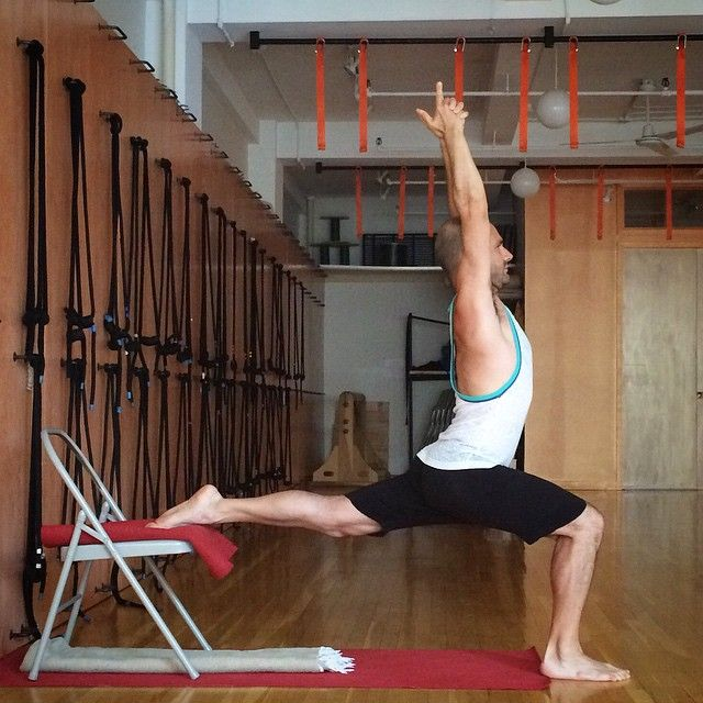 Preparation for hanumanasana yoga chair pinterest for Chaise yoga iyengar