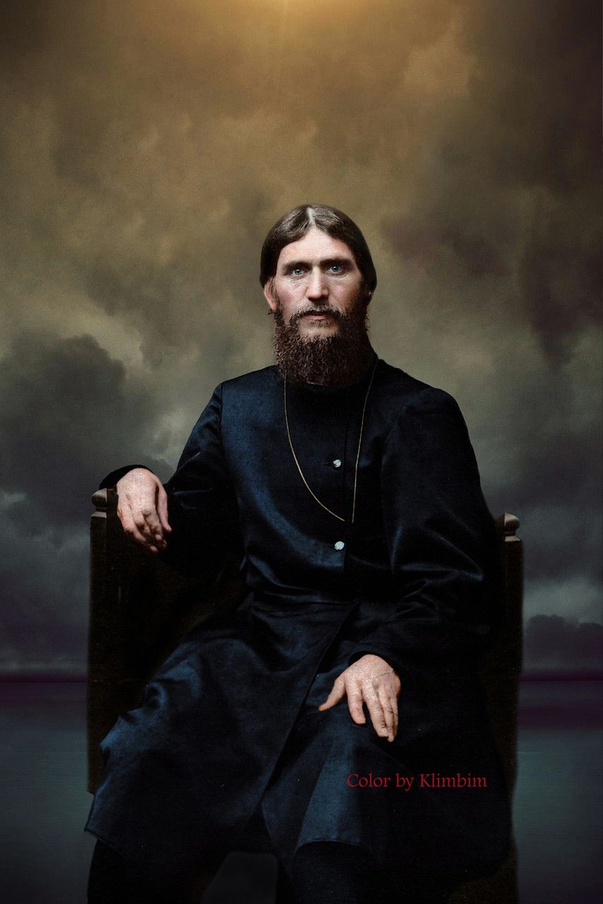 """Grigori Rasputin, the only man who could """"heal"""" Alexei, the Last Tsarevich of Russia. Empress Alexandra became very close to Rasputin, and shunned everyone who spoke against him. Rasputin was also very close to the Grand Duchesses, which alarmed a lot of people including Dowager Empress Maria Feodorovna."""