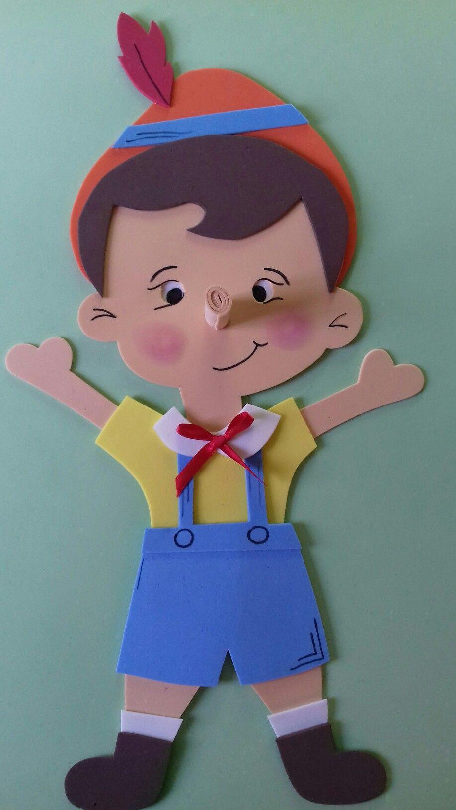 Pinoquio feito de palito de picole