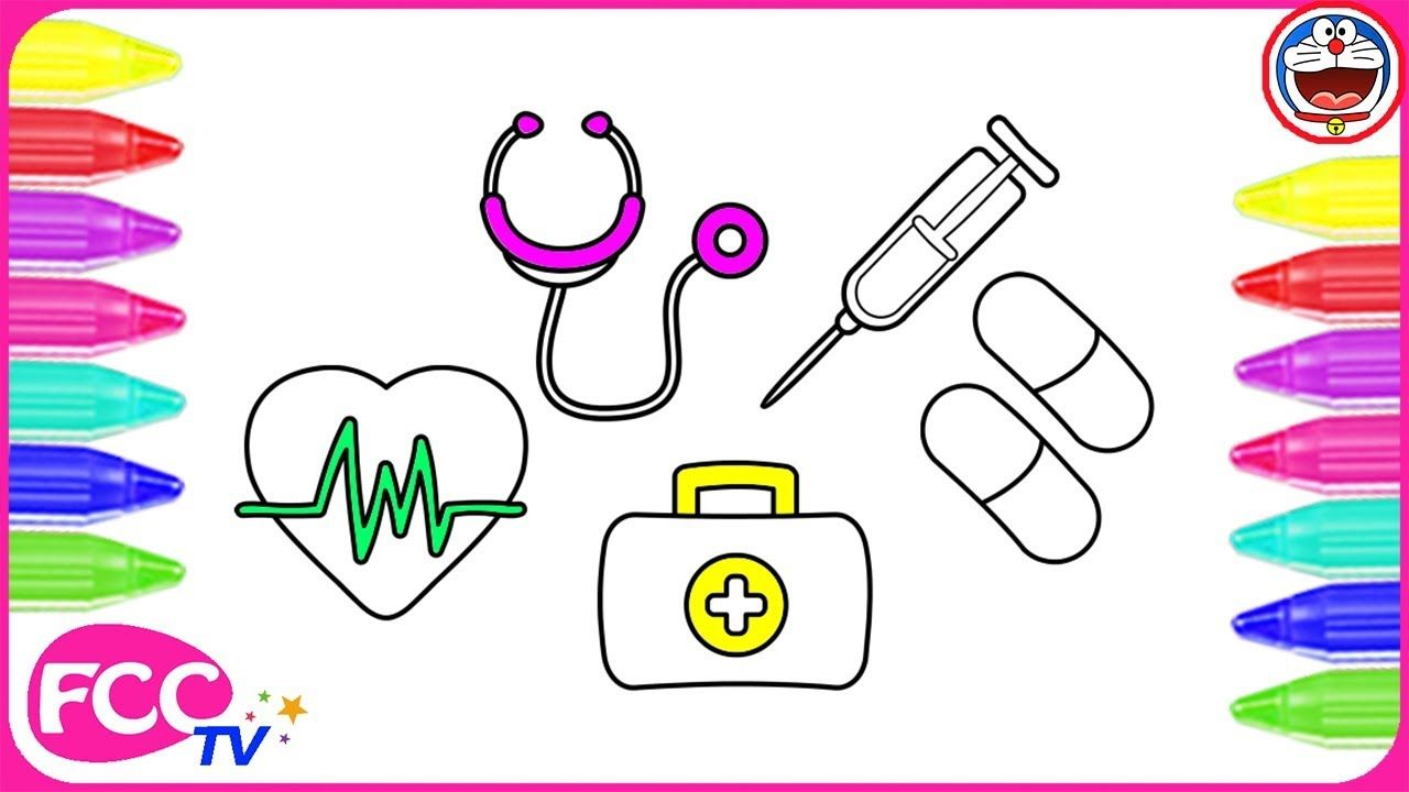 How To Color Medical Kit Coloring Pages Learn To Draw Pills