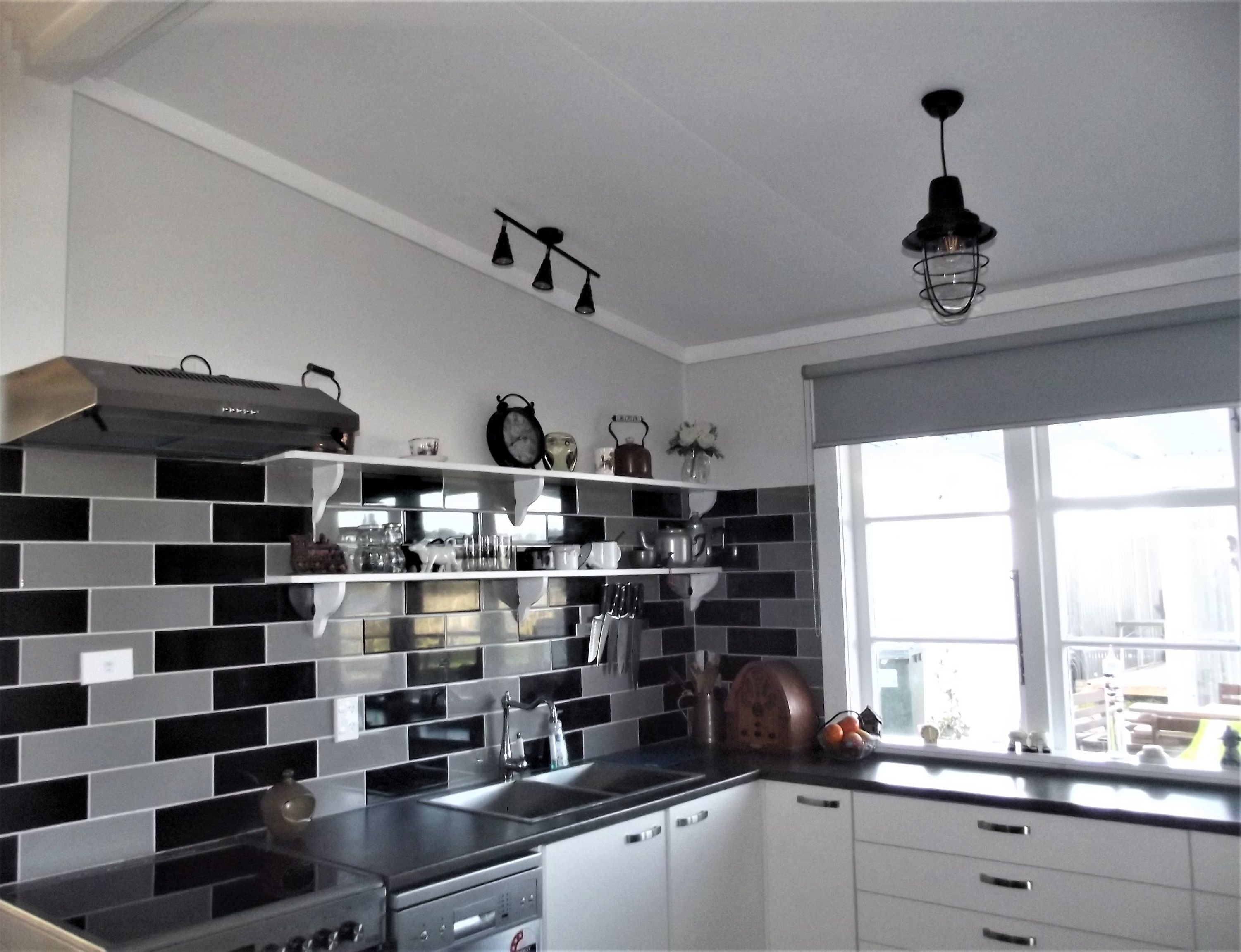 new kitchen in our 1920's new zealand railway cottage