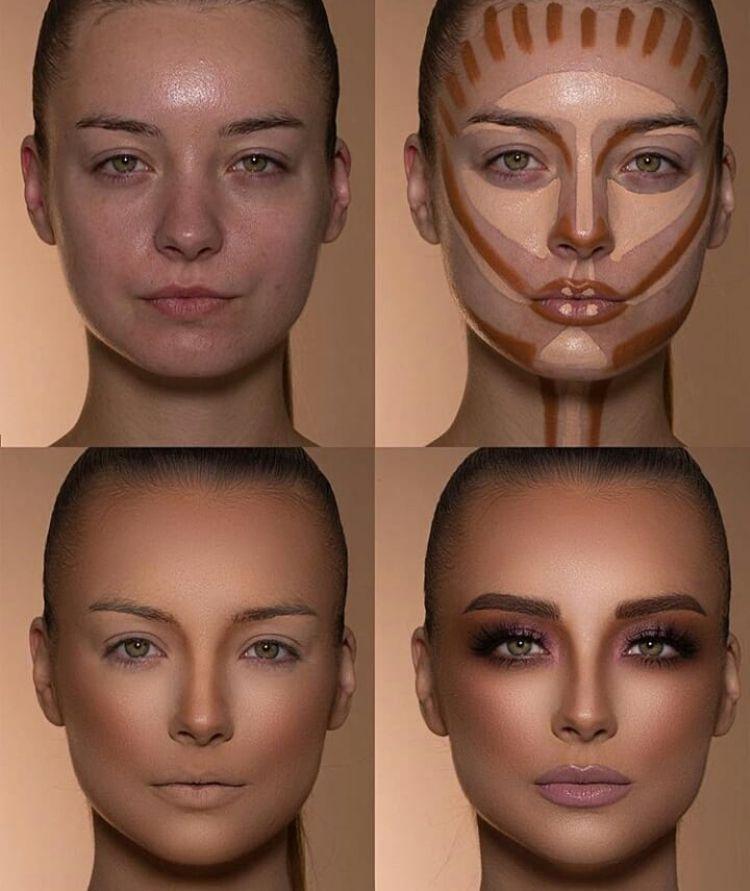 Contorno como un profesional – pintura facial – # a # contorno # profesional # pintura facial # como