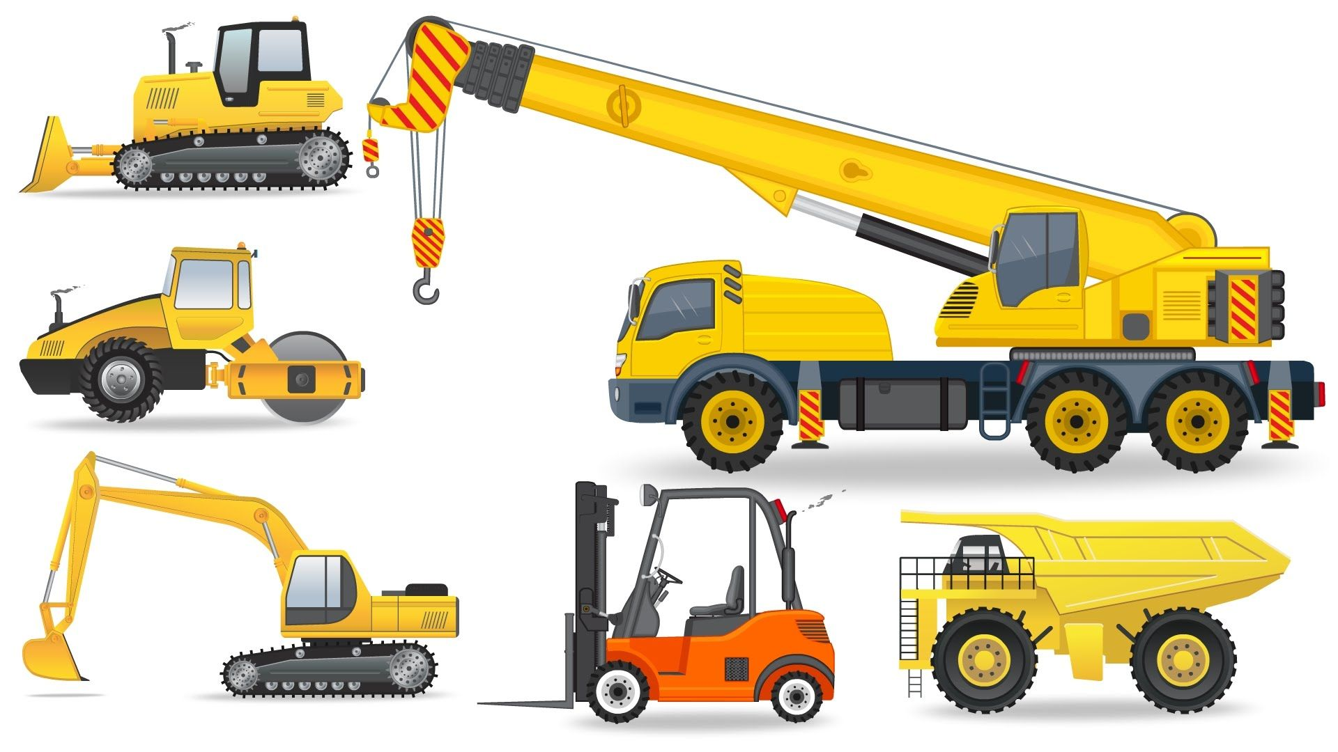 Learning Construction Vehicles For Kids Construction Equipment Bulldozers Dump Trucks Excavato Construction For Kids Healthy Work Snacks Printables Free Kids