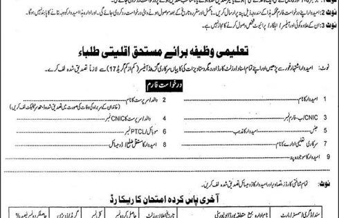 Punjab Minority Scholarship Scheme Registration Applications Form - scholarship form