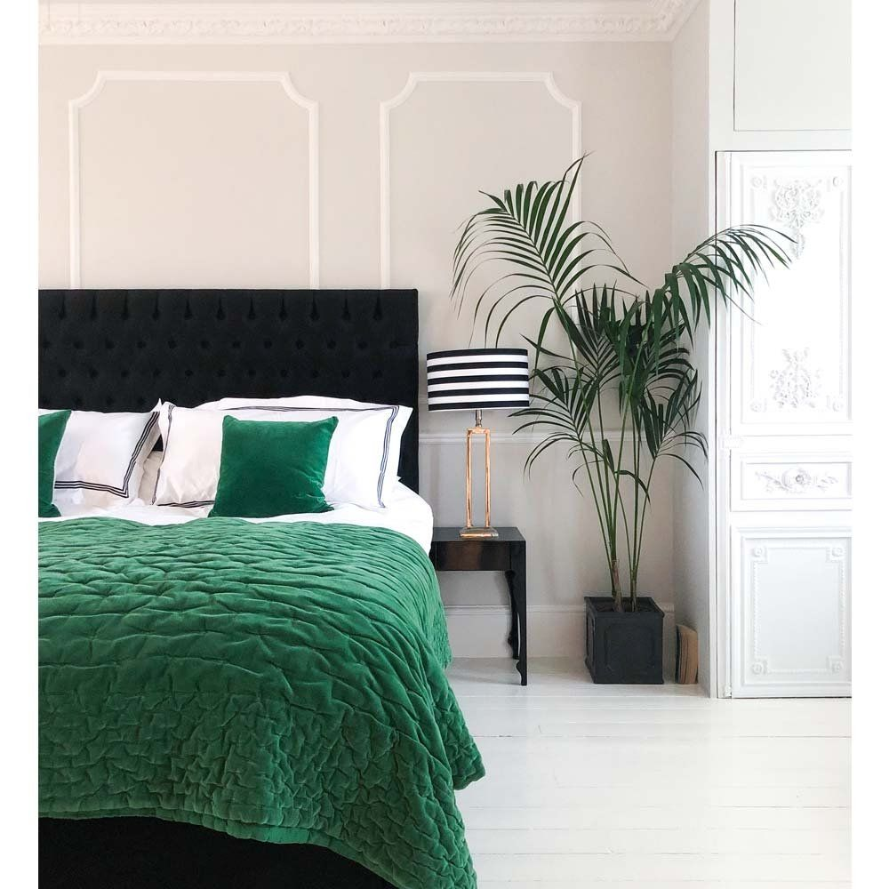 Plushious Velvet Emerald Green Bedspread in 2020 Green