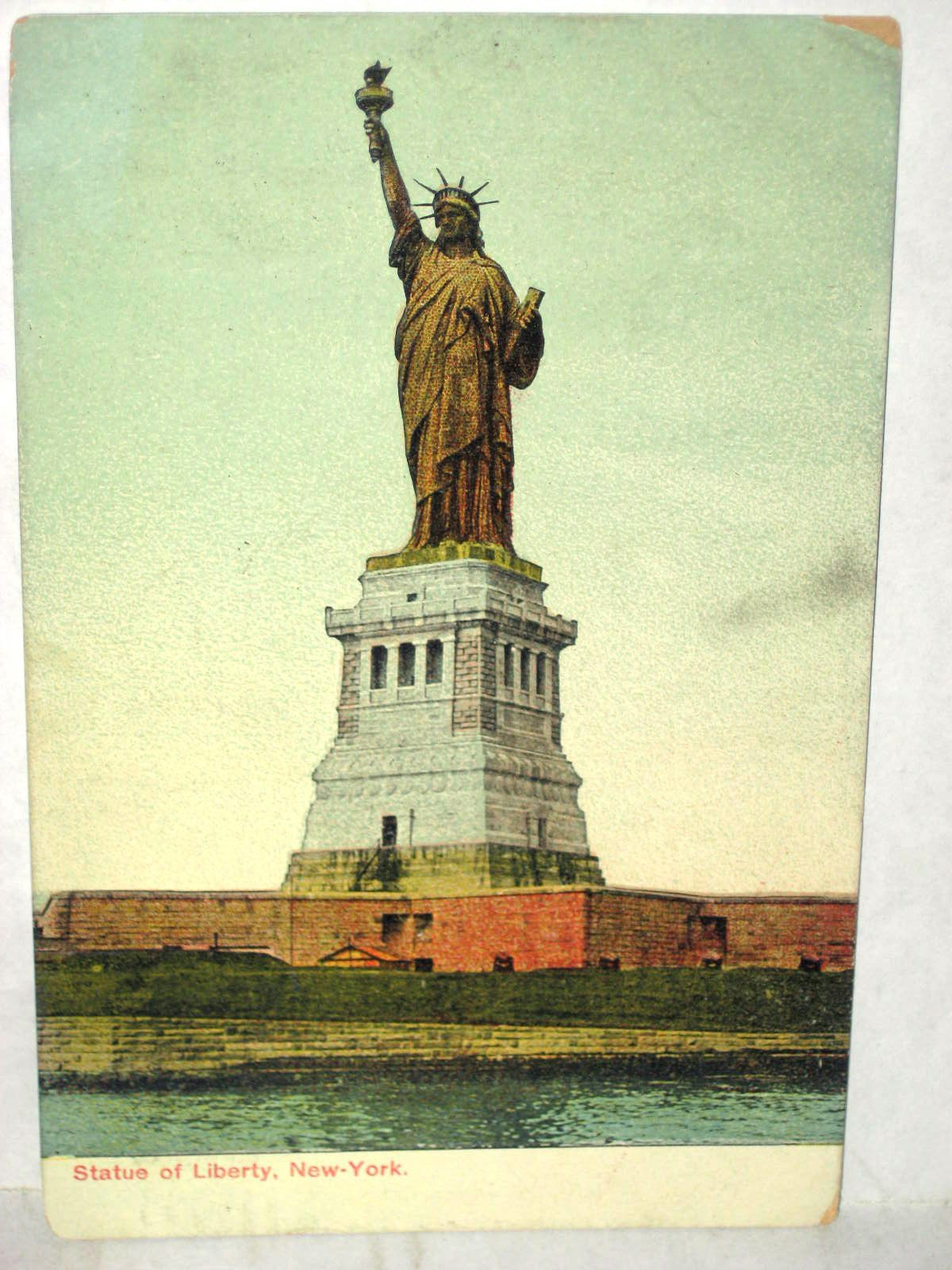 postcard statue of liberty new york cards other statue