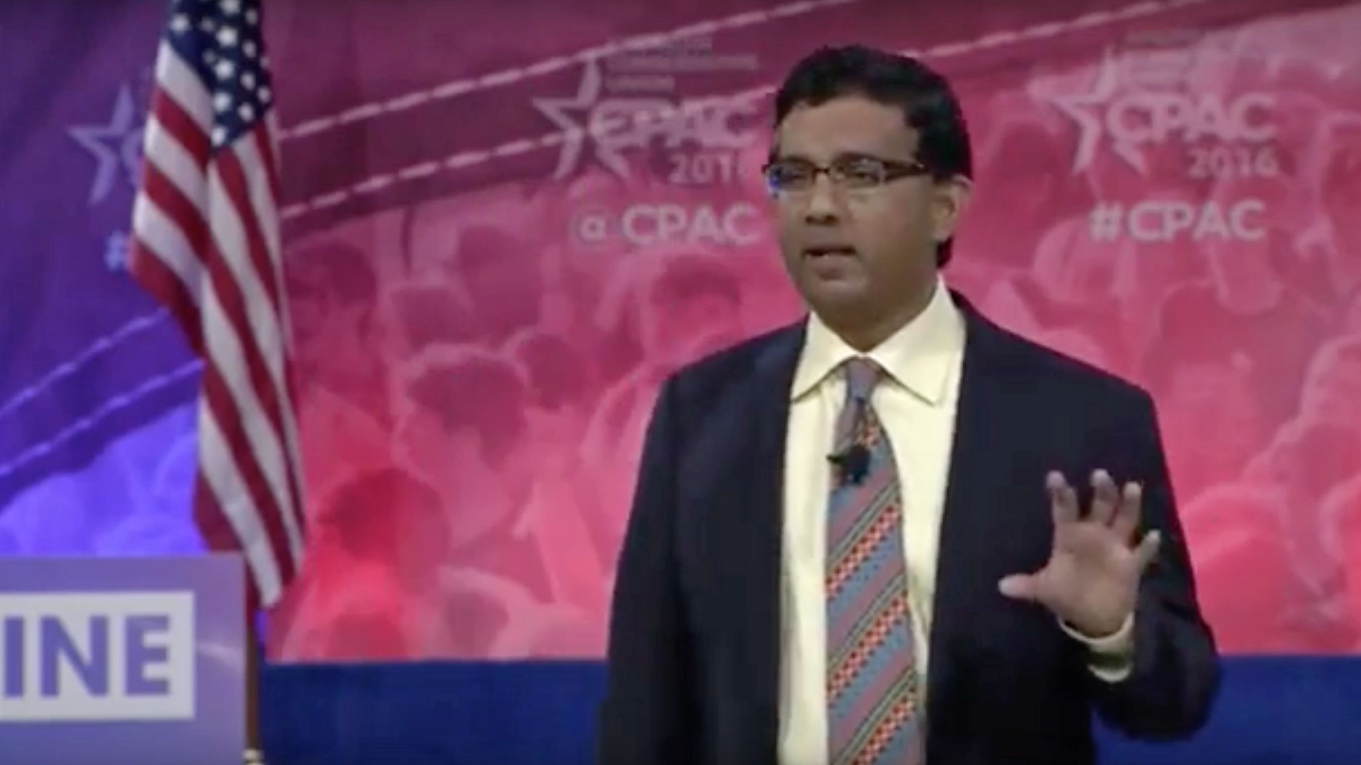 """VIDEO D'Souza Wows CPAC Crowd With """"Hillary's America"""