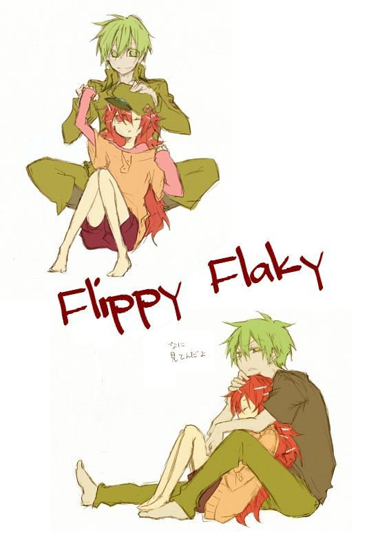 Tags: Androgynous, Happy Tree Friends, Flaky, Flippy, Yandere, Hug