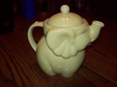 yellow elephant teapot...cute!