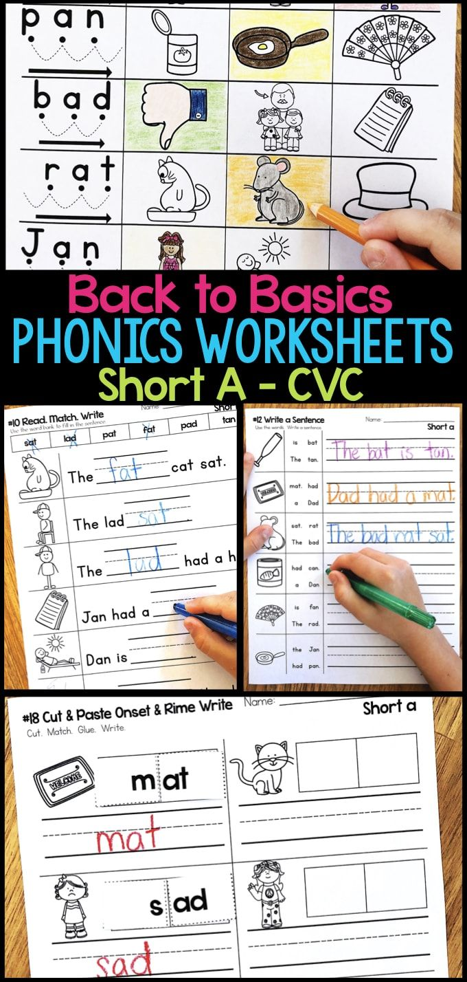 Short A Phonics Worksheets – Short A CVC Word