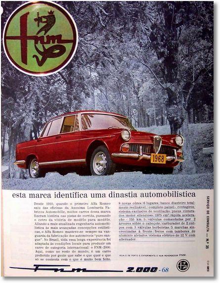 FNM Alfa Romeo 2000 - adv (1968)